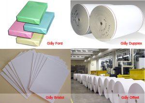 Các loại giấy trong lĩnh vực in ấn